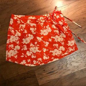 NWT J.O.A floral wrap & tie chiffon skort